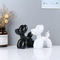 تمثال بالون الكلب تمثال مكتب الديكور الحلي الراتنج الحرف الحد الأدنى الحديثة الإبداعية صنعة بديعة عالية الجودة