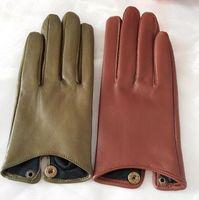 Женские натуральные овчины кожаные перчатки женские натуральные кожаные мотоцикла вождения перчатки R760 201020