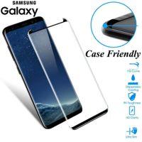 Vetro curvo 3D per Samsung Galaxy S8 S9 S10 Plus Cassa in vetro temperato Protezione dello schermo amichevole