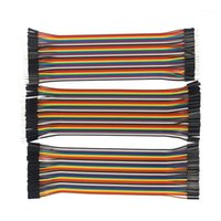 Computerkabel-Anschlüsse 120 Stück DuPont-Kabel-Stecker zu + weiblicher Jumper-Kabel für Orange PI Eine Himbeer 3 für 1