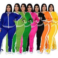Kadın Eşofman Kadın Eşofman için Güz Giysileri Güz Uzun Kollu Ceket Ve Pantolon Setleri Artı Boyutu 2 Parça Set Kadın Kıyafetler