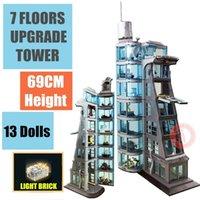 جديد 7 الطوابق ترقية الحديد العنكبوت صارخة برج الصناعة الرجل أرقام تناسب نموذج بناء كتلة الطوب كيد هدية لعبة عيد الربع q1126