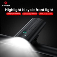 X-Tiger Bike Light Fight Fight Fight Light Set Велосипедная лампа Набор Водонепроницаемый Велосипедная лампа 4000 мАч USB Перезаряжаемый Светодиодный Велосипедный Аксессуар 201030