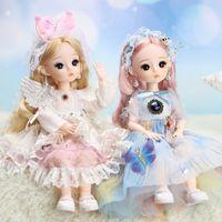 30 см искусственные ресницы кукла девушка костюма наборы перезагрузки большая подарочная коробка маленькие девочки игрушки