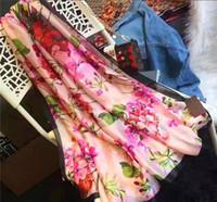Sciarpe di seta di marca di alta qualità 2021 Autunno ed estate Sciarpe di seta Timeless, Scialle super lungo Scialle Sciarpe di seta morbida da donna