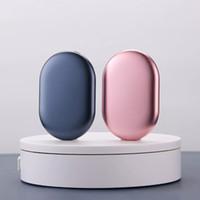 PMA ovale USB rechargeable chauffe-mains chauffe mobile de puissance de puissance mobile réglable 5000mAh batterie sécurisable chargeur portable
