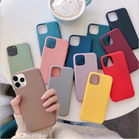 2021 Özel Logo Şeker Renk Mat Yumuşak TPU Cep Telefonu Kılıfı Silikon Darbeye Kapak iphone 12 Mini 11 Pro x XS Max XR 7 8 artı SE