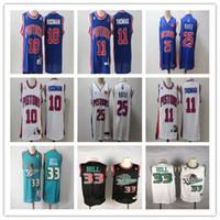 ErkeklerinDetroitPistonlar33 hibeHill 11 IsiahThomas 10 dennisRodman 25 DerrickGül basketbol formaları