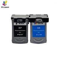 잉크 카트리지 Canon PG 37 CL 38 PIXMA MP140 MP190 M210 MP220 MP420 IP1800 IP2600 MX300 MX310 PRINTER1 용 HESYWAN PG37 CL38 카트리지