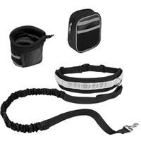 الحيوانات الأليفة الكلب المقود الأيدي الحرة الجر حزام مقعد تعديل الجر المقود في الهواء الطلق الرياضة المشي الجري حبل EEC4555