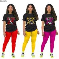 Cm. Yaya Sport Femmes Two Pieces Entraînement Fille Noire Thé Magic Top Leggings Jogger SweatPant Pack Suit Association