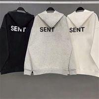 빈티지 남자 스웨트 맨스 여자 세련된 최고 품질의 스웨터 20ss 가을 겨울 로스 앤젤레스 반사 편지 인쇄 땀 셔츠 코트