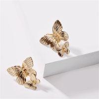 Корея простая любовь жемчуга серьги длинные подвески сладкие персиковые серьги персонализированные полые жемчужные цветочные серьги большие металлические крылья бабочки