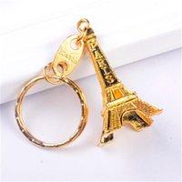 Paris Eiffel Tower Keychain Tour Retro Classic Souvenirs Cadena Vintage Llavero Anillo Soporte Decoración Frío Silver Bronce Chr
