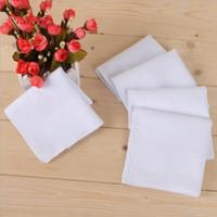 손수건면 남성 표 공단 손수건 냅킨 일반 빈 DIY 손수건 흰색 얇은 웨딩 선물 파티 장식 DHC3673