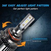 F31B 미니 H7 H4 LED 전구 H11 9005 HB3 9006 HB4 9012 H1 LED 캔버스 램프 CSP 6000LM 6000K 50W 자동차 헤드 라이트 안개 빛