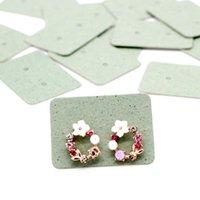 Cartes d'oreille de 100 pcs 2.5x3.5cm Emballage Boucle d'oreille d'emballage Titulaire de la carte de carte de carton vierge Kraft Paper Tags pour l'affichage de bijoux DIY Q SQClse