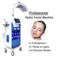 Chegada nova Cuidados com a pele 8 em 1 diamante Hydra Dermaabrasão Facila máquina de limpeza profunda Multi-função hidratante facial / salão de beleza Equipmen