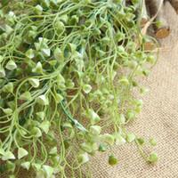 Зеленое растение стена подкова подвесной висит ротанга длинные ротанга растение моделирование цветов домашнего балкона украшения искусственные цветы