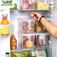 Wbbooming Cuisine en plastique Transparent Boîte de rangement Grènes Stores Stockage contiennent Boîte de rangement des conteneurs d'alimentation