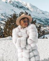 Kadın Kürk Faux Kışlık Ceket Kadın Ceket Uzun Kollu Kürklü Strreke Sıcak Famale Giyim Kabarık Zarif Palto Kalınlaşmak Giyim