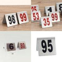 Numero rosso Tabella Segnaletica Scheda In Acciaio Inox Desktop Numbers Plate Tables Tables Segni Cartelli Vendita calda 2 2JD L1