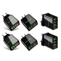 Caricatore USB Quick Caricabatterie USB 3.1A Caricabatterie per telefoni cellulari a parete veloce per 4 porte Adattatore QC3.0 all'ingrosso