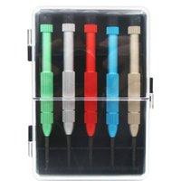 5 en 1 Jeu de tournevis Outils d'ouverture Kit pour téléphone mobile avec poignée en métal 0.6Y 0,8 1,5 2,0 tournevis de l'outil de réparation en gros