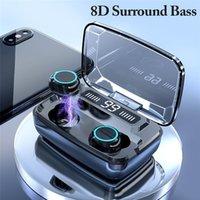 M11 헤드셋 블루투스 이어폰 이어폰 v5.0 TWS 터치 컨트롤 스테레오 스포츠 무선 소음 감소 이어 버드 전원 은행