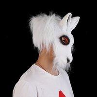 Unisex at ürpertici hayvan goril lateks parti tavşan kafa maskesi Cadılar Bayramı korkutucu maskeleri