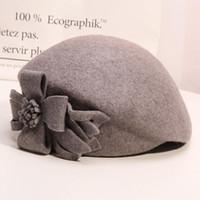 Bérets fête 100% laine fascinator Fedora Fedora Femmes Headwear Lady Headpiece Staché Buret Buret Banquet Chapeau Chapeau Chapeau Chapeau