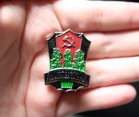 35.3 * 26.3mm CCCP Brooche URSS Farmer Farmer Grower Premio Insignia Metal Classics Union Emblem Ejército Militar World II Pines 201125