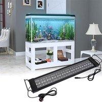Lámpara de césped luz solar de 25W 108LED con control remoto Luz suave 28.54 pulgadas Negro adecuado para 28.54-42.32inch Aquarium largo interior