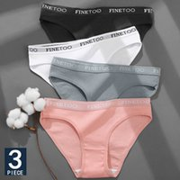 3 قطعة / المجموعة القطن داخلية للمرأة مثير رسالة سراويل السروال الإناث M-XL ملخصات العشير الملابس الداخلية 6 بلون بانتيون