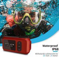 Lettore mp3 impermeabile da 16 GB che nuota il nuoto IP68 giocatori di musica sportiva subacquea con supporto schermo FM Radio Pedometro1
