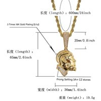 R.I.P Nipsey Hussle Cuban chain Necklace & Pendant With Tennis Chain Iced Out Bling Cubic Zirconia Shining Mens Hip Hop Jewelry