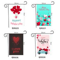 Bannière Saint Valentin 36 Styles Saint Valentin Garden Drapeaux Festive Atmosphère Décoration Bannière Drapeaux DHL Livraison gratuite