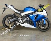 Per Suzuki K9 GSXR1000 2009-2016 GSX-R1000 09 10 11 12 13 14 15 16 Blue White Motorcycle Fairing Kit (stampaggio a iniezione)