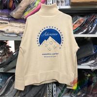 2021FWSS Kış balıkçı yaka kazak Erkekler Kadınlar 1 Üst Kalite Vintage Tişörtü Nakış Örgü Kazaklar