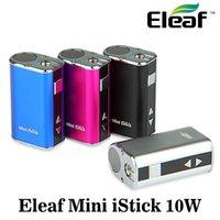 Eleaf Mini Istick Kit 1050mAh Batería incorporada 10W Max Output Variable Voltage Mod 4 colores con cable USB Conector Ego Enviar rápido