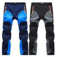2020 Summer Quick Dry Hiking Pantaloni da trekking Uomo Sport all'aperto Pantaloni traspiranti Mens Pantaloni da arrampicata in montagna Plus Size 4XL