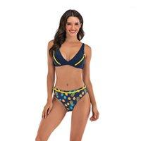 여성의 수영복 과일 인쇄 패딩 된 수영복 조정 가능한 스트랩 비키니 세트 Bikini 2020 수영복 두 조각 수영복 1