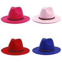 O feltro de lã Jazz Fedora Hats Womens clássico outono e inverno planas Caps formais UK Europa América Moda colorida 13 5NT M2