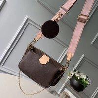حار بيع أعلى جودة أعلى جودة مصممين النساء حقائب الكتف الأزياء جلد طبيعي المرأة حقائب اليد الكلاسيكية إلكتروني الرجال حقيبة crossbody مع مربع M44823