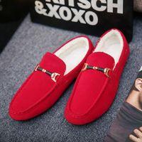 Großhandel Männer Winterschuhe Trend Alle Spiele Formale Tragen Plus Cashmere Casual Herren Junge britische helle Leder Schwarze Mode Sneakers