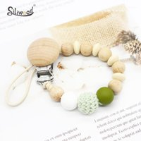 NEW Pacifier Clips Baby Beech Teething Beads Pacifier Chain ...
