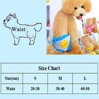Pantalon physiologique de chien 1PC Dog Pantalon Mignon Strawberry Print Couche Sanitaires Shorts de chien Sanitaires Pour Petites Chiens Medium Chiens Dog Sous-vêtement