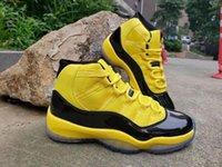 Neue Männer Basketballschuhe 11 12 Gelb Hummel Space Jam Trainer Sport Sneaker Jumpman X Transformes 11s Mens Athletic Schuhe