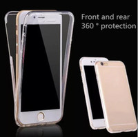 360 graus do corpo inteiro TPU Case Front Back Clear Protective Cover para iPhone 12 Mini 11 Pro X XS Max XR 8 6 7 PLUS