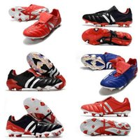 Самые высокое качество Женские футбольные туфли 17,1 FG Football Boots Мужская хищник обуви Copa Crampons Copa Crampons Clireat Mania Champagne